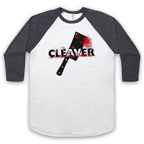 Inspiriert durch Sopranos Cleaver Film Inoffiziell 3/4 Hulse Retro Baseball T-Shirt Weis & Dunkelgrau