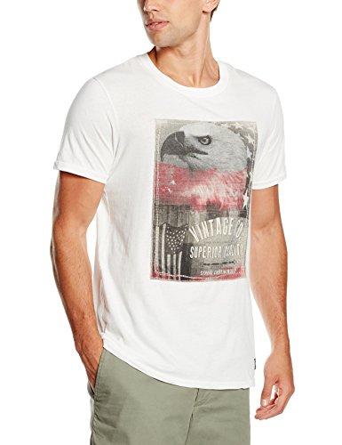 JACK & JONES VINTAGE Herren T-Shirt Jjvben SS Tee Crew Neck Weiß (Cloud Dancer Fit:T&S)
