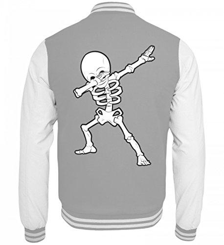 Hochwertige College Sweatjacke - Dabbing Skelett Hip-Hop Dab Tanzendes Gerippe Tanz Geschenk