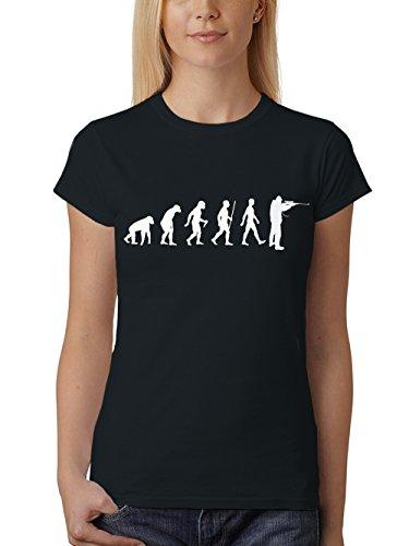 clothinx Damen T-Shirt Jäger Evolution Schwarz