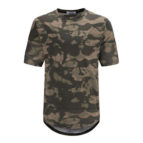 VEMOW Sommer Neue Design Männer Casual Camouflage Print O Neck Pullover Casual Täglichen Training Sport Kurzarm T-Shirt Top Bluse Tees Pulli(Tarnung 2, EU-58/CN-M)