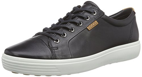 ECCO Soft 7 Men's Low-Top Sneaker, Uomo, Nero(Black 1001), 45 EU