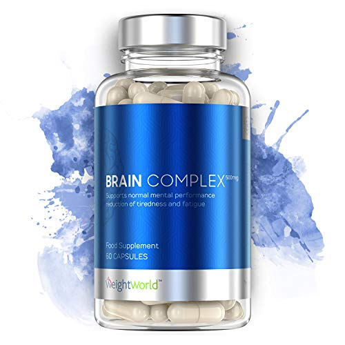 WeightWorld Brain Complex - Integratore Nootropico - Energia Mentale, Memoria e Concentrazione - Stimola la Mente - 60 Capsule 100{778c2c5a309627acd1d9787f8e27f5686c786cb713bd864c9976536abf6b912f} Naturali