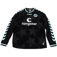 Original Saint St. Pauli Away 3rd Player Issue Long Sleeve Sports Jersey Hummel XL