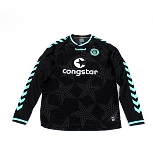 Original Sankt St. Pauli Away 3rd Player Issue Spieler Trikot Langarm Hummel XL NEU (Langarm 3rd)