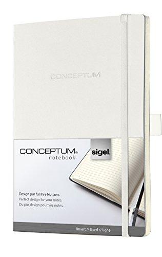 Sigel CO225 Notizbuch, ca. A5, liniert, Softcover, weiß, CONCEPTUM - weitere Farben