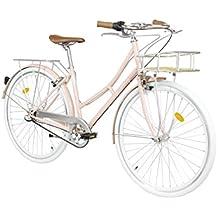 ... cubrecadenas y ruedas estabilizadoras. Fabric City Bicicleta de Paseo- Bicicleta de Mujer 28