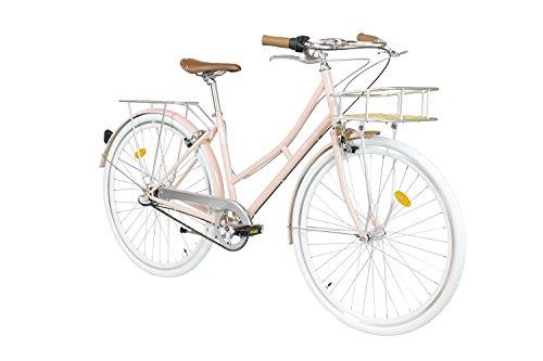 Fabric Cityrad - Hollandrad Damen Fahrrad mit KORB, Shimano inter 3-Gang, 5 Farben, 14 Kg (Pink Shoreditch Deluxe, 45)