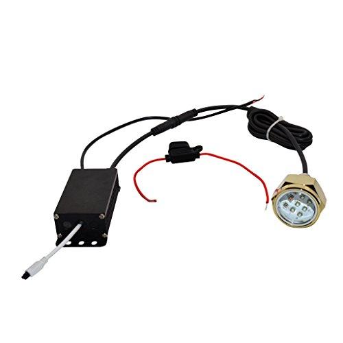 Sharplace Multicolor 27W Drahtlose Remot RGB LED unterwasser Wasserdicht Lampe Leuchte Ablassschraube mit Fernbedienung Für Boot Yacht Fisch Licht (Angeln-leuchten Für Boote)