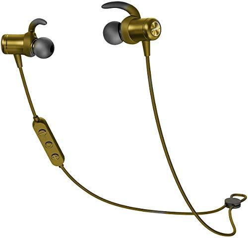 Mpow S11 Bluetooth 5.0 Kopfhörer, AptX HD Audio/ 9-10 Stunden Spielzeit, IPX7 Wasserdicht SportKopfhörer In Ear für Joggen/Laufen, Magnetisches Headset mit MEMS Mikrofon für iPhone Android