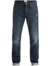 """Quiksilver Revolver Agy Blue 34"""" - Straight Fit Jeans - Homme"""