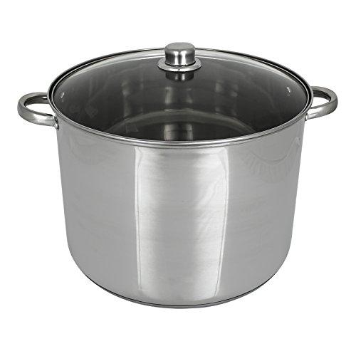 TW24 Kochtopf mit Glasdeckel und Größenauswahl - Universalkochtopf (9 Liter)