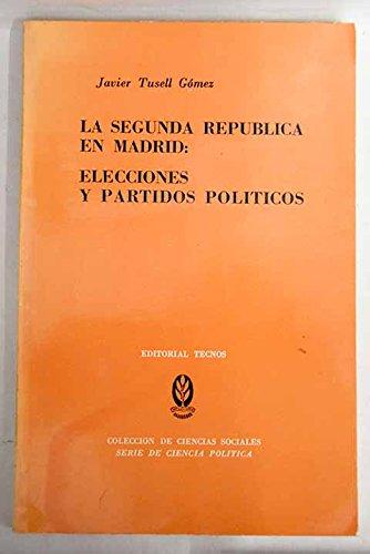 La segunda repblica en Madrid: elecciones y partidos polticos