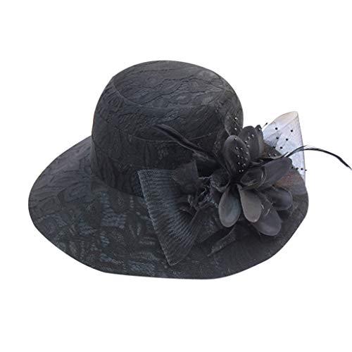Sonnigen Herren Hippie Kostüm - TWIFER Fascinator Derby Hüte Sommer Hut Schirmmützen Damen Sommerhut Elegante Sonnenhüte Blumen Hut für Britische Kirche Hochzeit Vintage Party Urlaub