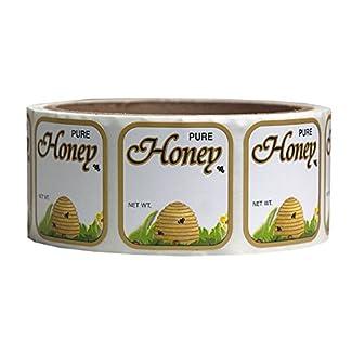 Mann Lake 250 Count Golden Honeybee Skep Label, 1-7/16 by 1-5/16-Inch 7