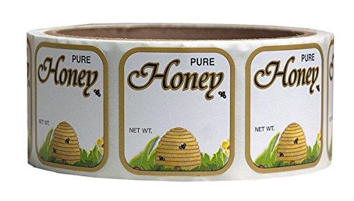 Mann Lake 250 Count Golden Honeybee Skep Label, 1-7/16 by 1-5/16-Inch 1