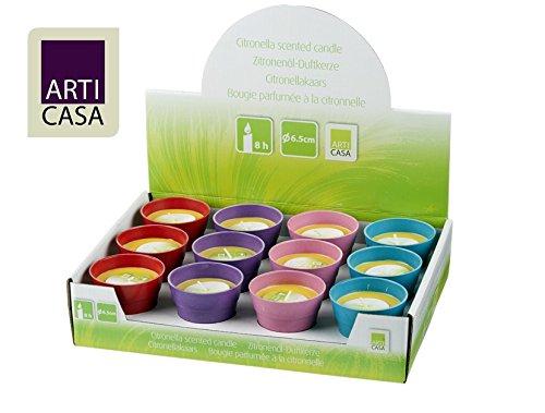 12 er Set Citronella Anti-Mücken Duft Kerze 65 x 60mm Mückenkerze Insektenschutz