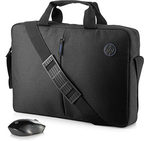 HP 2GJ35AA - Kit Borsa Ventiquattrore per Notebook fino a 15,6' con Mouse Wireless, Nera