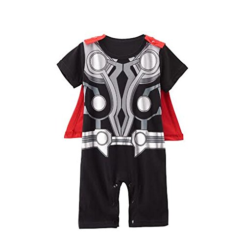 Kostüme Marvel Comic Fancy Dress (Thor Avengers Baby Strampler Boy Superheld Comic Party Kostüm/Fancy Kleid/Play)