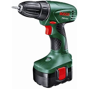 Bosch PSR 14.4 Cordless NiCad Drill Driver with 1 x 14.4 V Battery, 1.2 Ah