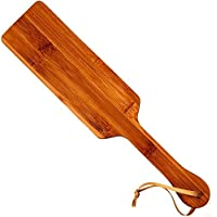 FD2LB1NVL Juego Madera azotaina impresión palmadita de bambú Natural palmadita Azote Whip látigo Juguete Hombres y Mujeres Pareja