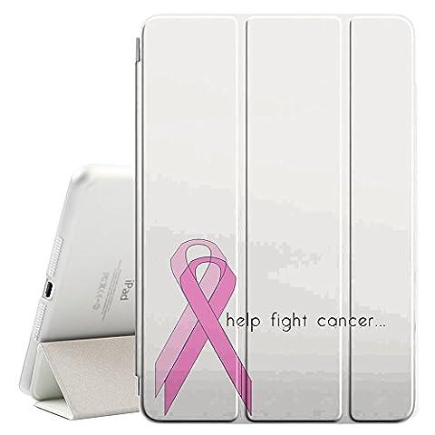 Graphic4You Help Fight Cancer Ribbon Design Étui Mince Smart Cover Housse Coque Rabat À Support [Avec Fonction Réveil / Sommeil] pour Apple iPad Mini 4