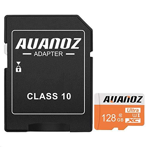 Preisvergleich Produktbild Auanoz TF-Speicherkarte 128GB,  Ultra Klasse 10 UHS-I High Speed Speicherkarte für Telefon,  Tablet und PC - mit Adapter.(Orange-128gb)