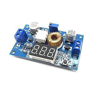 AptoFun Module de surtension réglable à 5 A DC-DC 75 W Module with Voltmètre Copper Pillars (C6B3) / DC-DC Step Down Power Module 4V-38V vers 1.25V-36V 5A Voltmètre réglable