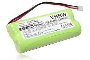 Batterie Ni-MH 750mAh 2.4V compatible pour AUDIOLINE DECT 5015