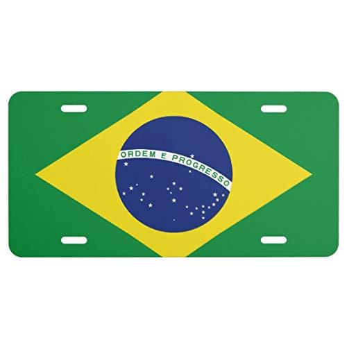 Brazilian Flag Car License Plate Sign For Brasil