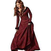 Vestido Medieval De Las Mujeres Del Vestido O-cuello De Manga Larga Princesa Renacimiento Vestido Gótico Cosplay,Beauty Top