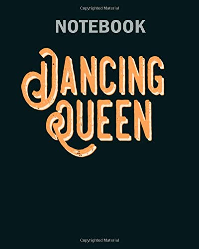 Notebook: vintage dancing queen 70s - 50 sheets, 100 pages - 8 x 10 inches