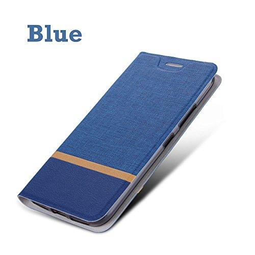 Huawei Ascend XT2 Fall, Multi Farbe PU Leder + TPU Ständer Style Card Slot  Flip Case für Huawei Ascend XT2/ELATE 4, Blau