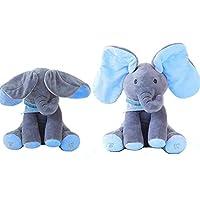 YooGer Plush Elephant, Soft Toy for Musical Animals,Electronic Music Elephant Soft Dolls Toys/Animal Elephant /Plush Toys A Good Gift For Baby/Children for Children