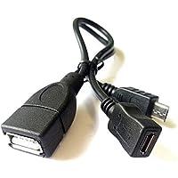 daorier USB OTG Cable adaptador Micro USB 2.0conector USB de tipo A hembra con cable de alimentación de corriente conector y de cable para USB Stick Phone Tablets 1pieza