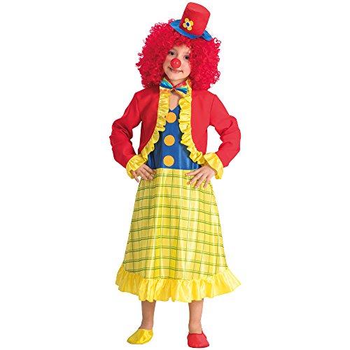 Carnival Toys-Disfraz payaso para bebé para niños, multicolor, 110-116cm, 68133