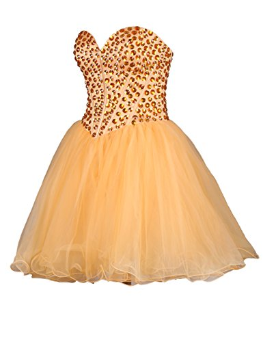 Dressystar Robe de cocktail courte, en tulle Pourpre