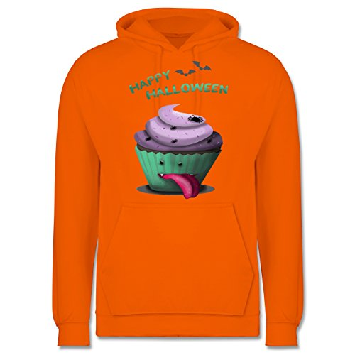 n treats - XS - Orange - JH001 - Herren Hoodie (Lustige College-halloween-kostüm)