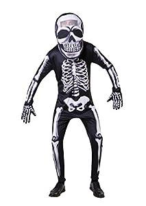 Bristol AF070 - Esqueleto de cabeza grande para hombre, mujer, color negro, blanco, talla única