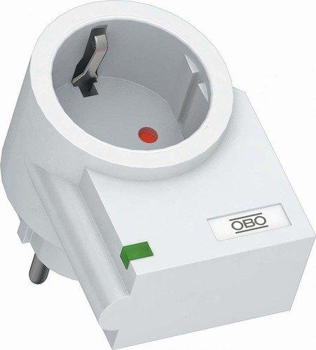 OBO Bettermann Vertr Feinschutz Schuko FC-D Zwischenstecker Geräteüberspannungsschutz für Energietechnik/Stromversorgung 4012195035053