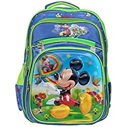 Disney School Bag For Boys & Girls 07+ Years Mickey Mouse Sk Park 16 (L) Blue (Dm-0036)
