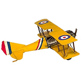 Model airplane metal biplane plane antique style waterplane - 61cm