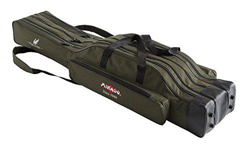 Rutentasche MIKADO 2/3 Fächern Rutenfutteral Angeltasche viele Varianten! 1,2-1,6m (160cm/3 Kammern/UWD-12003G-160W)