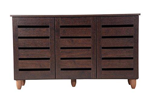 DeckUp Bonton 3-Door Shoe Rack (Dark Wenge, Matte Finish)  available at amazon for Rs.3999