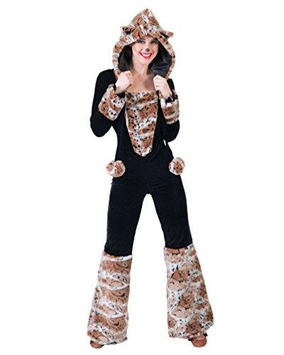 Pierro´s Kostüm Overall Wild Cat Damenkostüm Frauenkostüm Komplettkostüm Größe 32/34 für Karneval, Fasching, Party