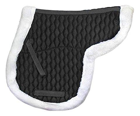 Derby Originals AP Fleece Padded Contour English Saddle Pad, Black