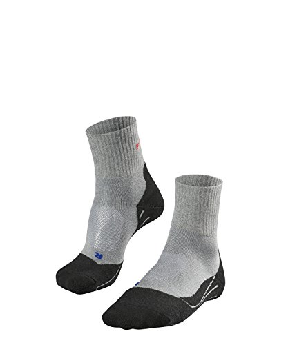 Herren Kurze Wirkung (FALKE TK2 Short Cool Herren Trekkingsocken / Wandersocken - grau, Gr. 42-43, 1 Paar, knöchel-high (kurz), kühlende Wirkung, mittelstarke Polsterung)