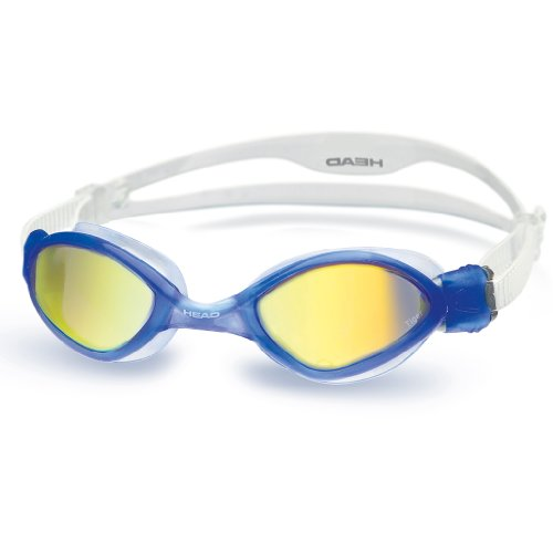 HEAD Erwachsene Schwimmbrille Tiger Mirrored Liquidskin Clear-Blue, One Size