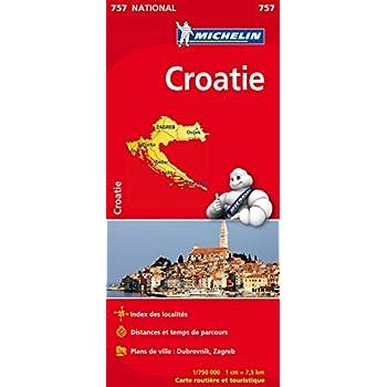 Carte national Croatie - N°757 l'echelle : 1/750000