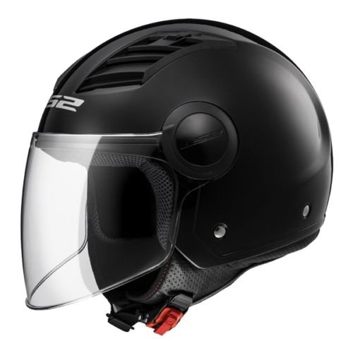 LS2 Casco Moto Of562 Airflow, Gloss Black Long, L